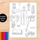 Harry potter Printable,educational games, Colouring Page Printable, SET Potter symbols,ABC
