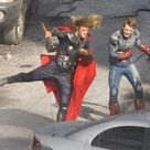 44 Behind-The-Scenes Photos That'll Change The Way You Look At Marvel Movies