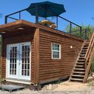 20 ft Container Home   The Dripping Springs Model   Panel / 10 ft Deck w/ Stairs / Off grid Plus Solar & Water