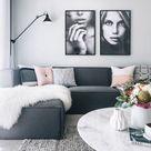15 Stunning  Dark Gray Couch Living Room Ideas