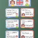 Beginner Conversation Bubbles | Tafelmaterial Englisch Unterricht Grundschule & Klasse 5