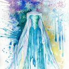 Modern Nursery Art, Disney princess, Disney Frozen Elsa, Frozen Anna, Cinderella, Snow White, princess nursery, nursery artwork