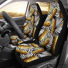 Hawaii Pineapple Palm Leaf Car Seat Covers