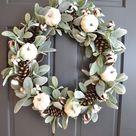 Simple and Elegant Fall Wreath Ideas DIY Fall Wreaths