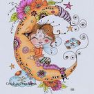 INSTANT DOWNLOAD Digital Digi Stamps Big Eye Big Head Dolls Digi  Img908 Zen Art TM By Sherri Baldy