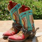Turquoise Cowboy Boots