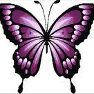 Purple Butterfly Cross Stitch Pattern Modern Large Purple   Etsy