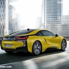 BMW i8 Protonic Frozen Yellow 2018 Poster. ID1302405