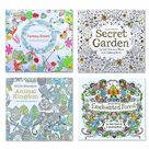 Animal Kingdom, English Edition Coloring Book For, Relieve Stress Kill Time Painting Drawing