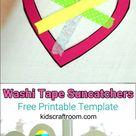 Washi Tape Heart Suncatcher