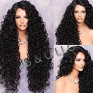 Human Hair Blend Full Lace Front Wig Extra volume and Curly Untamed and wild Heat Safe Wig Off Black Side parting Brand New with Tag
