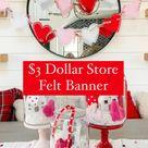 $3 Dollar Tree Valentine's Day banner!
