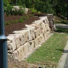 Sandstone Retaining Wall with Diamond Sawn Sandstone Steps - Cornerstone Boulder Walls