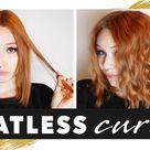 Overnight curls for short hair | Heatless beach waves | NO HEAT TUTORIAL