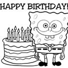 Spongebob Happy Birthday Coloring Pages - Coloring Home