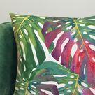 Bright Cushion Cover, Green Cushions, Tropical Cushion, Scatter Cushions, Sofa Cushion Covers, Palm Cushion, Decorative Cushion