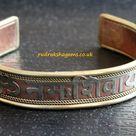 Om Aum Namah Shivah Shiva Hindu Brass & copper Bracelet Wrist Band Kada God Shiva Brass Mantra Brass Bracelet Gift for Him Her Adjustable