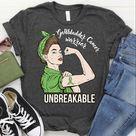 Gallbladder Cancer Awareness Shirt / Tank Top / Hoodie, Cancer Warrior Unbreakable Tshirt, Cancer Su