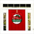ROUND Png PRINTABLE Merry Christmas Png SUBLIMATION Design Download Png file Sublimation Digital Download Door Hanger Round Design