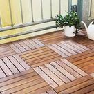 Balkonfliesen aus Holz verlegen - Anleitung & Tipps