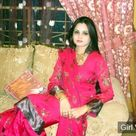 Smart pakistani girl in dark pink salwar kameez