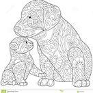 Zentangle Gestileerde Kat En Hond Vector Illustratie - Illustration of anti, grappig: 82893999