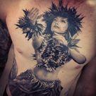 Hula Girl Tattoos