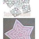 Tapis en forme d'étoile au Crochet #toysforbabies #DIYTeppich
