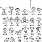 Leuke gelukkige cartoon kinderen stockvector (rechtenvrij) 105699329