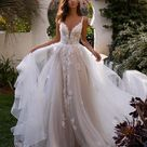 Tulle Full A-Line Wedding Gown Moonlight Couture H1394