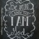 Scripture Chalkboard Art