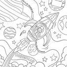 Cooler Malvorlage Weltraum  Kostenlos Herunterladen Und Ausdrucken