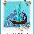 Sailing Yacht Quilt Block