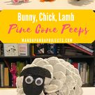 Pine Cone Peeps: Bunny, Chick, and Lamb Easter Craft - Manda Panda Projects