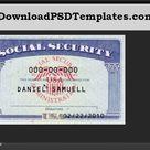 Social Security Card Template [SSN Editable PSD Software] - Download PSD Templates