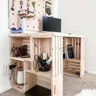 Easy DIY Wood Crate Desk – Perfect for Homeschool!