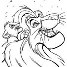 Mufasa And Simba Looking At The Stars The Lion King Coloring Page - Download & Print Online Coloring Pages for Free