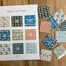 Cars & Trucks Pattern Matching  Toddler Preschool Colors | Etsy