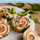 Lachs Spinat Rolle