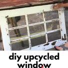 Easy Repurposed Window Picture Frame DIY