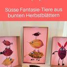 Herbstliches Kunstprojekt Fantasie Tiere aus Blättern   Familienblog DIE ANGELONES