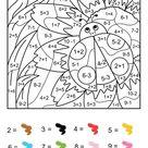 Coloriage magique CE1: une coccinelle