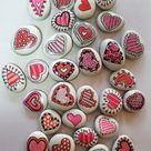 Kleine dekorative Herz Felsen  Handbemalte Kühlschrank   Etsy