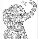 Elephant Mandala Coloring Pages - 50 Page Elephant Coloring Book for Adults and Kids - Printable