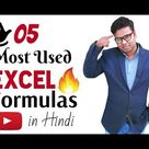 5 Most Used Excel Formulas   if, Sumif, Countif, Vlookup, Match ? Hindi For Excel User