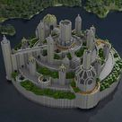 Render of my Minecraft home, nicknamed Minas Laroch by others on the server I play.