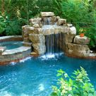 small pool with jacuzzi in grotto