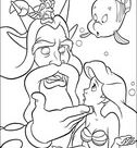 King Triton And Ariel coloring page | Free Printable Coloring Pages
