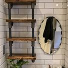 Hand made Wall shelf industrial bookcasescaffolding planks   Etsy