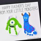 Monsters Inc Inspired Footprint Art - I Heart Arts n Crafts